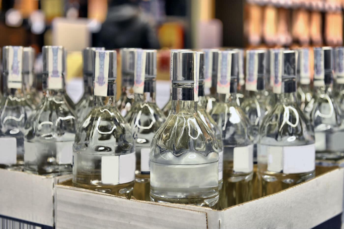 Bottles of Fake Vodka were Seized by alcohol enforcement polic