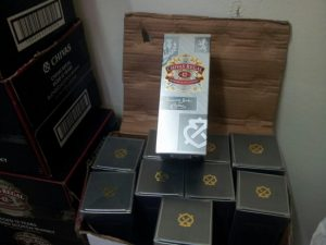 Counterfeit boxes of Chivas Regal Whisky