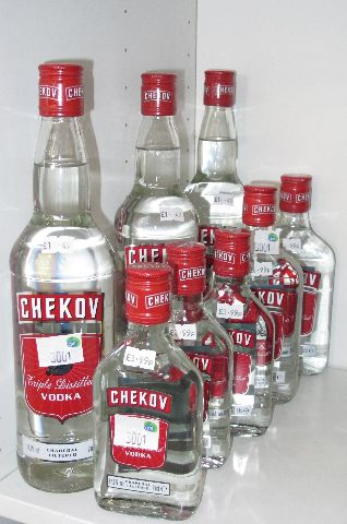 Fake Chekov Vodka Sold in England