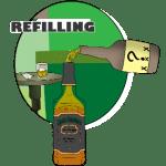 Refilling Liquor Bottles