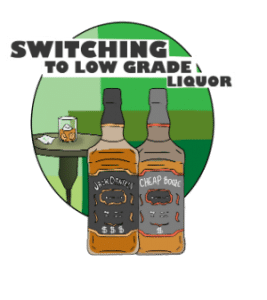 Switching liquor bottles violation