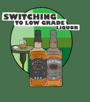 Switching liquor bottles violation