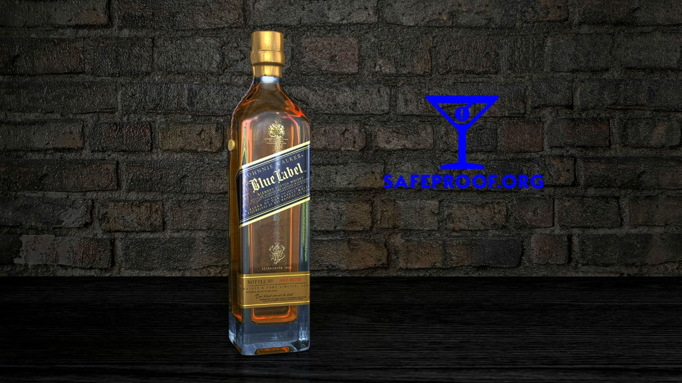 Johnny Walker Blue refilled