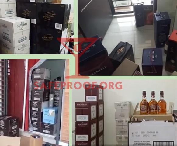 Fake Branded Liquor Cases