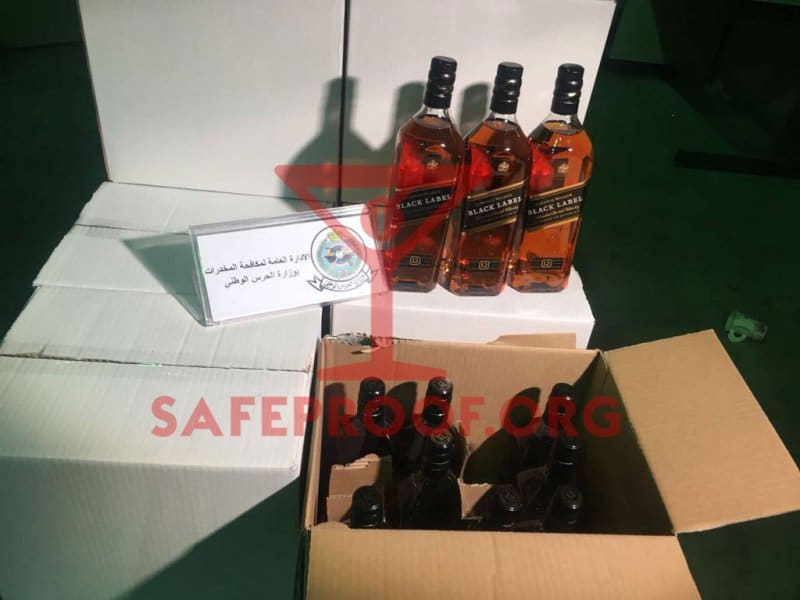 Johnnie Walker Black Label bottles cases