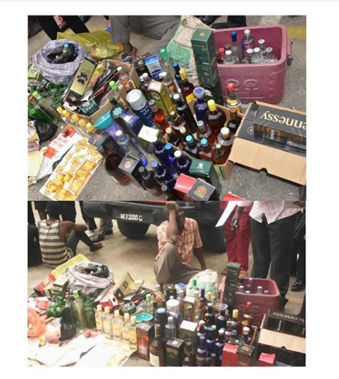 Counterfeit illicit alcohol sold in Nigeria