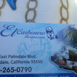 El Carbonero Restaurant, Palmdale, California