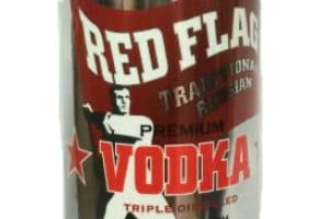 Red Flag Vodka bottle