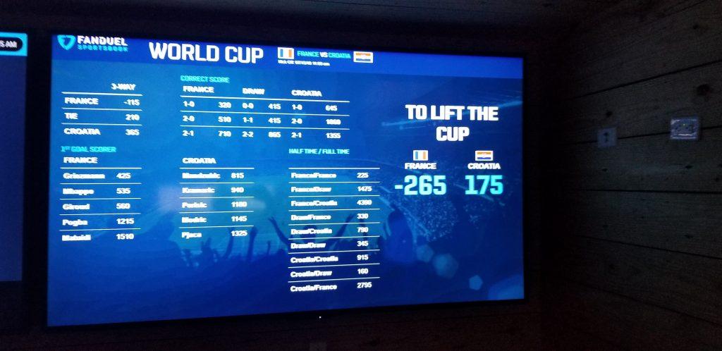 World Cup Final Odds FanDuel New Jersey