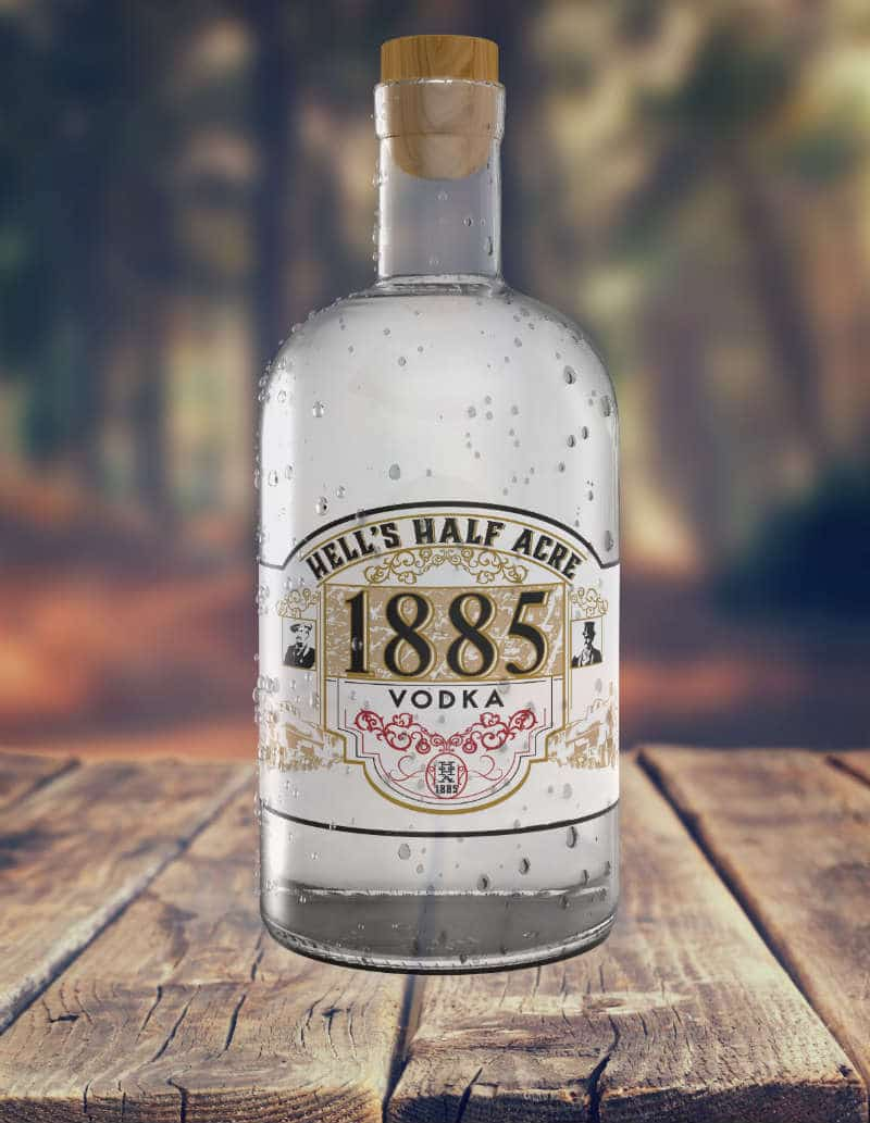 Bottle of Hells Half Acre Vodka