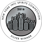 NY International Spirits Silver Winner 2016