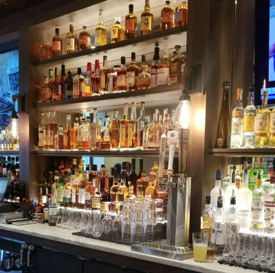 Bar expensive brand Spirits