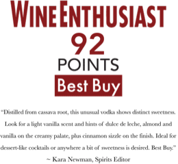 92 Point Organic Vodka