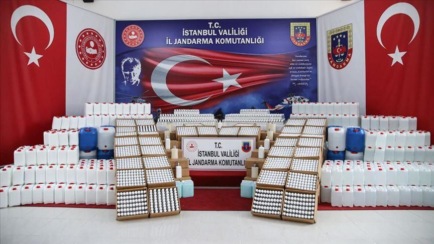 Turkish Police seized 18 tons of illicit alcohol in Turkey
